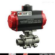 气动焊接球阀,VT系列三片式对焊球阀