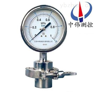 卡箍式卫生型压力表,不锈钢卫生型压力表