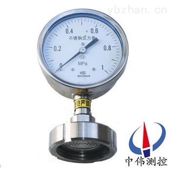 YTP-100MH卫生型隔膜式压力表