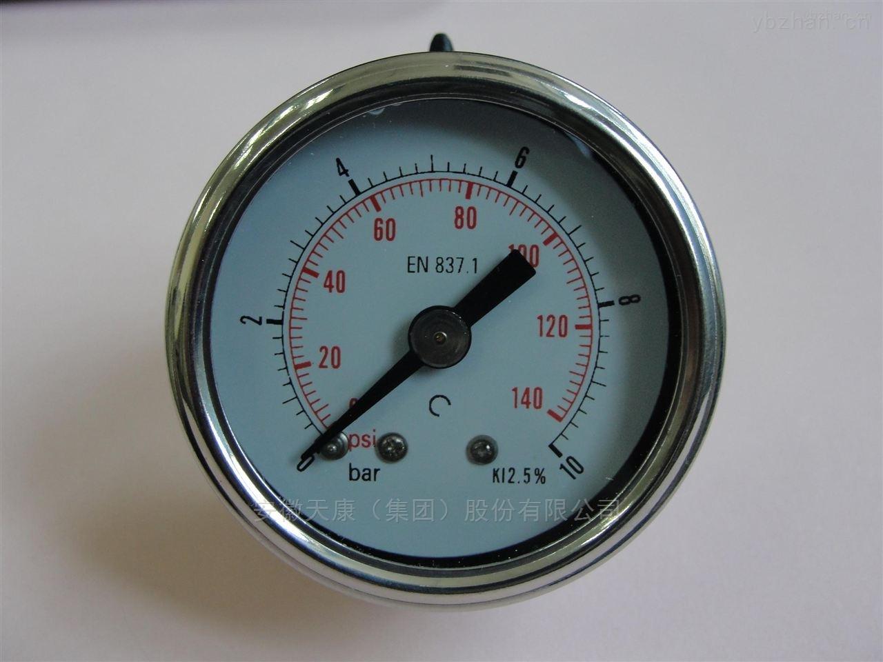 天康集团不锈钢耐震压力表