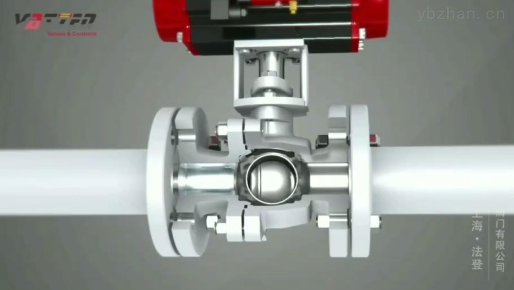 VTBDF33AH-氣動法蘭球閥的組成-浮動球閥