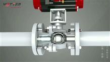 氣動法蘭球閥的組成-浮動球閥