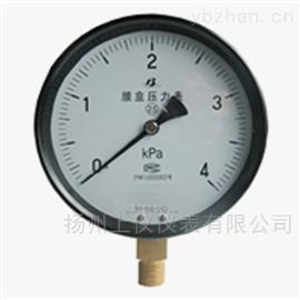 YE-100耐震膜盒压力表
