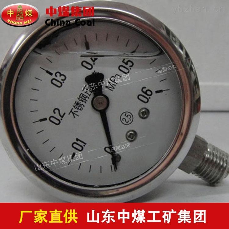 耐腐蚀不锈钢压力表性能良好,耐腐蚀不锈钢压力表应用范围