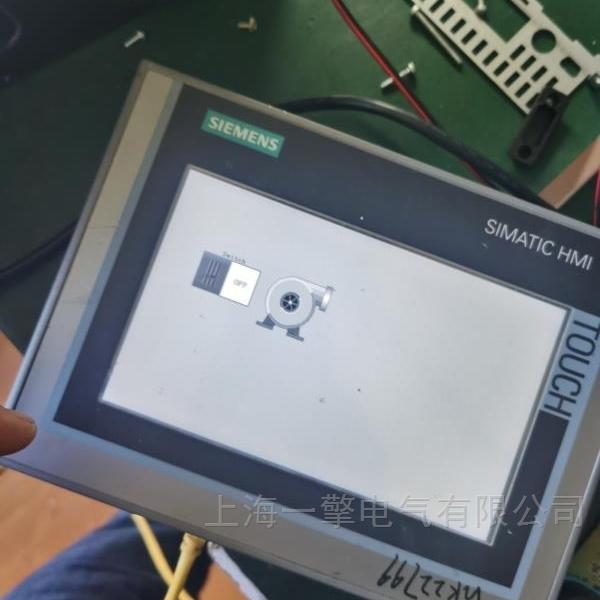 工业电脑PC627C屏幕显示一条条横杆维修
