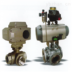 TKQQ300電/氣動O型三通球閥