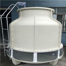 逆流式100吨圆形玻璃钢冷却塔销售