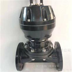 DKM/CP化工厂用气动隔膜阀 腐蚀性介质用阀门