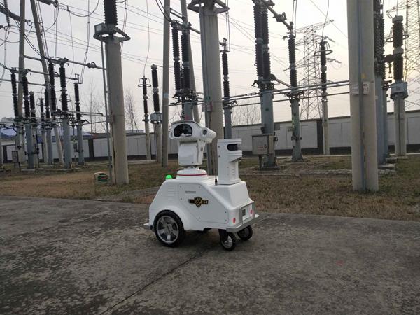 """安徽蚌埠电网首个电网智能巡检机器人""""上岗"""""""