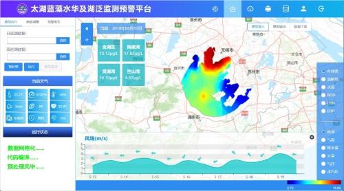 太湖藍藻水華及湖泛監測預警新平臺啟動試運行