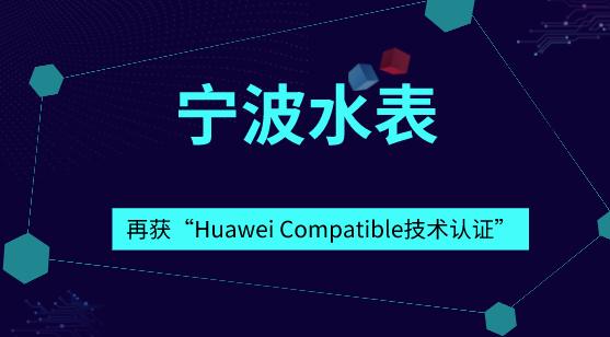 """寧波水表再獲""""Huawei Compatible技術認證"""""""