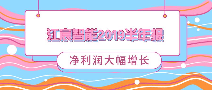 江宸智能2019半年報:凈利潤大幅增長
