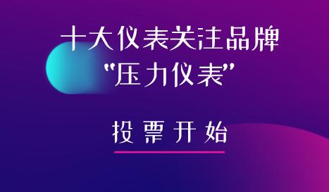 """2019年第五屆""""十大儀表關注品牌""""壓力儀表投票入口已開通"""